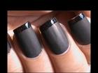 Matte Nail Polish Designs - French tip Matte Nails - Matte Nail Art Tutorial How to DIY at Home