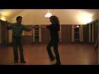 Dancing to A little less satisfaction Elvis Presley - west coast swing