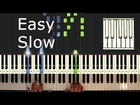 We Wish You a Merry Christmas - piano tutorial easy slow - how to play We Wish You a Merry Christmas
