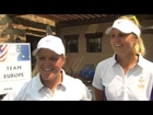 Solheim Cup - Caroline Hedwall and Anna Nordqvist on Day 1
