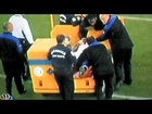Viking's E.J. Henderson Breaks Leg Full Video Slow Motion