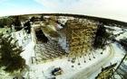 Reportage de construction pour Goliath à Six Flags Great America