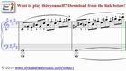 Beethoven's Moonlight Sonata sheet music - Video Score