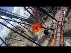 Apocalypse front seat on-ride HD POV Six Flags America